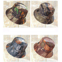 Wholesale adjustable ties resale online - Fisherman hat unisex flower cloth basin cap casual flat top wide hat outdoor sunscreen camouflage visor LJJZ362