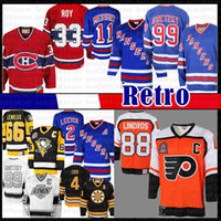 jerseys canadenses venda por atacado-mens Eric Lindros Philadelphia Flyers Hockey Jersey Brian Leetch New York Rangers Mark Messier Wayne Gretzky Montreal Canadiens Patrick Roy
