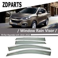 Wholesale hyundai ix35 accessories resale online - ZDPARTS Pieces Set Car Wind Deflector Sun Guard Rain Wind Vent Visor Cover Trim Accessories For Hyundai IX35