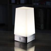drahtlose nachttischlampe großhandel-WRalwaysLX 3 Modi Batteriebetriebene kleine Tischlampe, drahtloses Nachtlicht des PIR-Bewegungssensor-LED der Nachttischlampe, empfindliche bewegliche Lampe