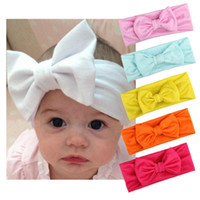ingrosso i neonati dei bambini intrecciano i legami-New Fashion Kids Girls Infant Flower Bow Tie Fascia elastica Accessori per capelli Moda Nuova fascia elastica