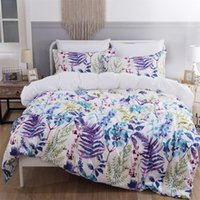Wholesale flower floral bedding set 3d for sale - Group buy Simple And Modern Three Piece Flower Bedding Set D Printed Floral Comfortable Breathable Quilt Cover Duvet Cover