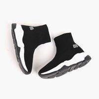 yürümeye başlayan çocuklar için kayma çorapları toptan satış-Çocuklar ayakkabı kız erkek toddler ayakkabı üzerinde kayma çorap boot çocuklar koşu spor sneakers moda futbol çizmeler AB 24-35 kutusu ile tasarımcı ayakkabı göndermek