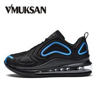 sapatos casuais para homens venda por atacado-VMUKSAN Design Exclusivo Tênis De Moda Dos Homens Tamanho Grande 39-47 Confortável Mens Sapatos Casuais Venda Quente 2019 Primavera Lace-Up Sapatos Baixos # 360548