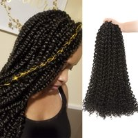 Wholesale twist hair for braiding for sale - Group buy 5Pcs Passion Twist Hair Inch Long Braids for Passion Twist Crochet Braiding Hair Synthetic Fiber Natural Hair Extension B