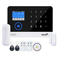 система управления rfid оптовых-Беспроводная домашняя безопасность WIFI GSM GPRS Сигнализация APP Пульт дистанционного управления RFID карта Беспроводная домашняя безопасность WIFI GSM GPRS Alarm syst