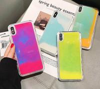 шлифовальный чехол для iphone оптовых-плывун случая для Iphone 11 Pro Max XS MAX XR X 8 7 6 Plus Измельчителя неона Песок Liquid Полной защиты тела с приподнятым Bezel Glow Case