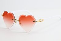 Wholesale lenses focus for sale - Group buy 2020 Selling New Rimless Sunglasses White Plank Sunglasses Top Rim Focus Eyewear Slim and Elongated Triangle Lenses Fanciful Unisex