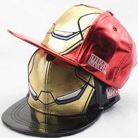 hip hop caps für mädchen großhandel-Iron Man Kids Cap Neue Marvel AVENGERS Caps 3D Stickerei Baseball Cap Ironman Kinder Hysteresenhut für Jungen Mädchen Casual Hip-Hop Hüte