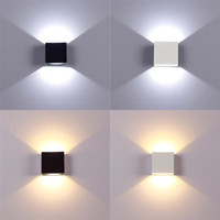 kitchen wall lamps 2021 - Aluminum 6W Wall Lamp Home LED Indoor Lighting Dimmable Up Down Stair Corridor Bedroom Night Light Indoor Decoration Lights