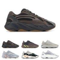 yeni dalga üstü toptan satış-2019 yeni Dalga Koşucu 700 Koşu Ayakkabıları Tuz Atalet Geode Leylak Leylak Katı Gri Statik Erkek Kadın Kanye West Trainer Spor Sneakers boyutu 36-46