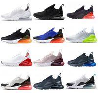 médio quente venda por atacado-Nike Air Max 270 Shoes 27c Tênis de Corrida Média Azeitona Ser VERDADEIRO 27s Hot Punch Parra Teal Triplo Branco Preto Volt Sports Sneakers Núcleo Das Mulheres Dos Homens Sapatos
