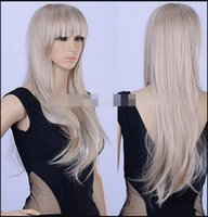 Wholesale long length hair styles for sale - WIG LL lt lt lt fashion european style cosplay party long curly wave hair full wigs light blonde queen Lady Fibre no lace Hair