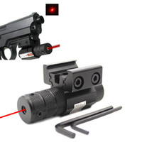 láser táctico montado en riel al por mayor-Acercamiento táctico compacto Mini Red Dot Laser Sight fit Picatinny Rail Mount 11mm 20mm Equipo de engranajes