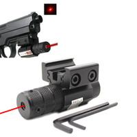 escopo ponto venda por atacado-Compact Tactical Mini Ponto Red Laser Sight Scope Picatinny fit Rail Mount 11mm 20mm Equipamentos de Engrenagem