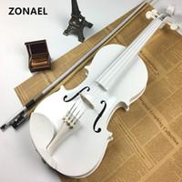 instrumentos de bordo venda por atacado-Iniciante Violino Antigo violino 4/4 Caso Artesanal Instrumento Musical, arco basswood v001
