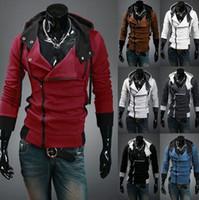 ingrosso giacche cerniere inclinate-Designer 2019 Explosive Sanitary Clothes 12 colori Slant Zipper Hat Sanitari Jacket Jacket Men's Sanitary Clothes # W20