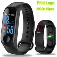 mi pulsera al por mayor-M3 Pulsera inteligente Presión arterial Spo2 Monitor de ritmo cardíaco Rastreador de actividad física para hombres, mujeres y niños Reloj PK mi banda 3