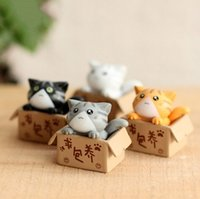 Wholesale new cartoon model girls for sale - Group buy 4Pcs Cute Seek Nurturing Cheese Cat Cartoon Anime Action Figure Toys DIY Model For Children Kids Christmas Toys Girls Gifts