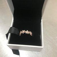 роза цветок кольцо поле оптовых-НОВЫЙ 18 К Розовое Золото CZ Diamond RING Set Оригинальная Коробка для Pandora Real 925 Серебряные цветы Мода Роскошное Обручальное Кольцо Для Женщин