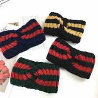 accessoires d'hiver coréen achat en gros de-2018 hiver tricot laine bandeau coréen chapeaux doux mignon cheveux accessoires large côté lavage visage Eastic bande de cheveux