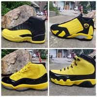 ingrosso allenatori di pallacanestro basso-Nuovi 11 jordan retro 9  XI ALTA giallo nero a basso 12 uomini scarpe da basket 14 scarpe da tennis di sport all'aria aperta formatori 2019 dimensione di buona qualità 7-13