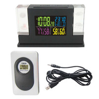 Wholesale wireless rf kit for sale - Group buy Freeshipping RF Wireless Hz RCC DCF Weather Station Kit Indoor Outdoor Hygro thermometer Digital Clock Remote Transmitter