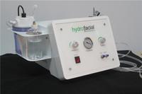 máquinas de dermoabrasión portátiles al por mayor-3 in1 Diamante portátil Microdermoabrasión belleza máquina oxígeno cuidado de la piel Agua Aqua Dermabrasión Peeling hidrafacial equipo SPA