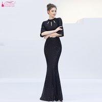 siyah gelinlik, çin toptan satış-Siyah Gelinlik Modelleri Uzun Mermaid Payetli BlingBling Düğün Konuk Elbiseleri Vestidos Stokta Çin