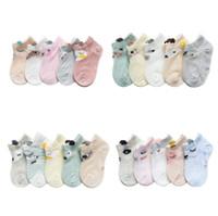 dibujos animados japoneses para adultos al por mayor-5 pares / lote calcetines para niños 100% algodón recién nacido calcetines antideslizantes Calcetines de invierno cálidos y suaves para niños y niñas por mayor-Envío gratuito