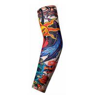 фальшивая рука хэллоуина оптовых-hot Halloween Tattoo Sleeve Trendy Men Women New High Elastic Fake Temporary Tattoo Sleeve Designs Party Arm Decor Supplies