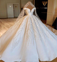 Wholesale pink wedding dresses shoulder for sale - Group buy Luxury Off The Shoulder Ball Gown Wedding Dresses Beaded Crystals Ruched Chapel Train Wedding Bridal Gowns Real Image CPH039