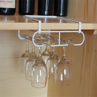 Wholesale glass cup holder rack for sale - Group buy Stainless Steel Wine Glasses Holder Wine Rack Kitchen Bar Wall Hanging Champagne Glass Storage Cup Rack Display