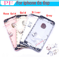 10pcs For iPhone 6S 6s Plus Back Housing Metal Frame Replacement For iPhone 6S Plus Battery Door Cover Rear Cover Chassis Frame DHL Shipping