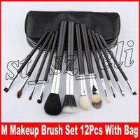 Wholesale travel makeup brush kit for sale - Group buy M Makeup Makeup Brushes Set Kit Travel Beauty Professional Nylon Handle Foundation Lips Cosmetics Makeup Brush with pu g