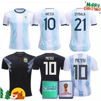 arjantinli kadınlar toptan satış-2019 Arjantin ev uzakta Jersey MESSI DYBALA DI MARIA Aguero HIGUAIN 19 20 Arjantin erkek bayan çocuk kiti copa amerika futbol Futbol forması