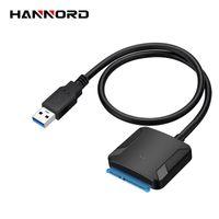 ingrosso sata convertitore usb usb-Hannord USB 3.0 a USB SATA cavo per SATA3 dell'adattatore del convertitore per 2,5 / 3,5 hard disk SSD HDD con UASP