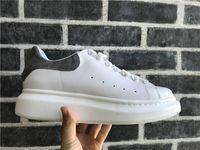 Wholesale best casual summer shoes resale online - Men Women Casual Shoes Fashion Luxury Designer Sneakers Lace up Walking Shoes Cheap Best Grey Suede Leather Platform Sneaker
