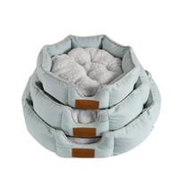 statue de maison achat en gros de-Chien maison maison lits pour animaux de compagnie accessoires lit de meuble lit de nid pour animaux