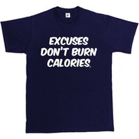 rosa camisetas crossfit venda por atacado-Desculpas Não Queimar Calorias Ginásio Work Out Crossfit T-Shirt Dos Homens de chapéu-de-rosa t-shirt