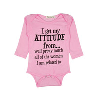 Wholesale pink baby romper resale online - Newborn Jumpsuit Baby Romper Baby Infant Casual Clothes Long Sleeve Baby Long Sleeve Months Thin Section