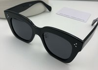 quadratische schutzbrille großhandel-41444 Luxus Frauen Designer Sonnenbrillen Goggle Wrap Designer UV-Schutz Unisex-Modell Big square Frame Top-Qualität kostenlos mit Fall kommen