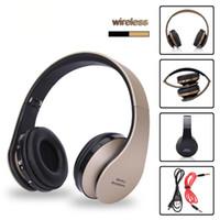 iphone perakende hacim kulaklık toptan satış-Kablosuz Kulaklık Bluetooth Müzik Kulaklık Stereo Mikrofon Oyun Şarjlı AURICULARES Audifonos ile katlanabilir spor Kulaklık