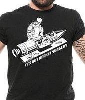 más el tamaño de la novedad camisetas al por mayor-Rocket Surgery Cool Graphic Sarcástico Sarcasmo Novedad Camiseta divertida Harajuku Verano 2018 Camiseta de manga corta Tallas grandes