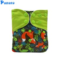 Wholesale diaper snaps resale online - Waterproof Baby Cloth Diaper Cover Reusable Digital Printed Diaper Snap Fitted Pocket Girl Boy Cloth Nappies Cover