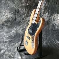 Wholesale custom bass guitar bodies resale online - Custom factory new high quality string manual jazz bass electric guitar custom bass guitar natural wood guitar custom