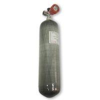 acheter un réservoir achat en gros de-Acecare Avec Fiber De Carbone Rouge De Valve De Jauge 3L 4500psi SCBA Réservoir PCP Air Paintball Cylindre Acheter Directement De La Chine