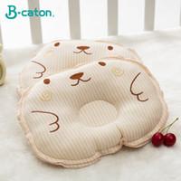 almofadas cabeça plana venda por atacado-Travesseiro do bebê recém-nascido evitar a síndrome da cabeça chata | Molde principal da forma 3D e algodão respirável 25X18Cm da malha do ar