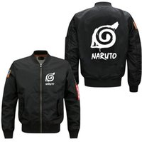 Wholesale naruto cosplay uniform for sale - Group buy 2018 Winter Men Bomber Jacket Coat Anime Naruto Uchiha Sasuke Cosplay Print Coat Men s Baseball Uniform USA Size XS XL