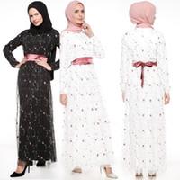 arabisches abendkleid modell großhandel-Großhandel High-End 2018 Neues Modell Mode Ethnisches islamische Kleidung Abendkleid Kleid Stickerei arabische Frauen Partykleid muslim